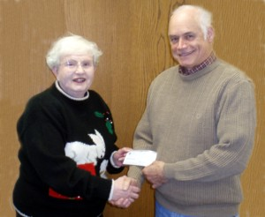 DONATIONS AND NAMING RIGHTS - Jim Campbell of HOTH Donates $15,000.00 to Treasurer, Marge Coonen
