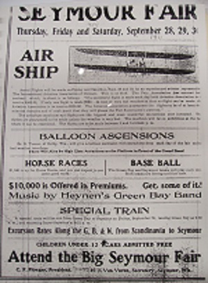 AEROPLANE AT THE 1911 SEYMOUR FAIR